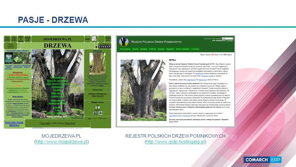 PASJE - DRZEWA MOJEDRZEWA.PL (http://www.mojedrzewa.pl)http://www.mojedrzewa.pl REJESTR POLSKICH DRZEW POMNIKOWYCH (http://www.rpdp.hostingasp.pl)http://www.rpdp.hostingasp.pl