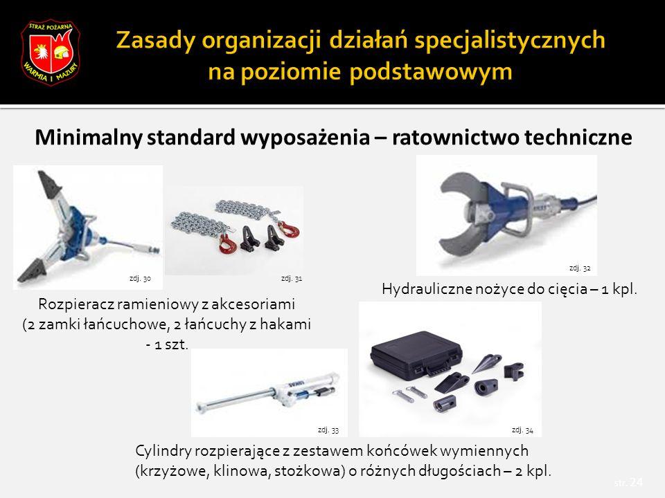 Minimalny standard wyposażenia – ratownictwo techniczne str.