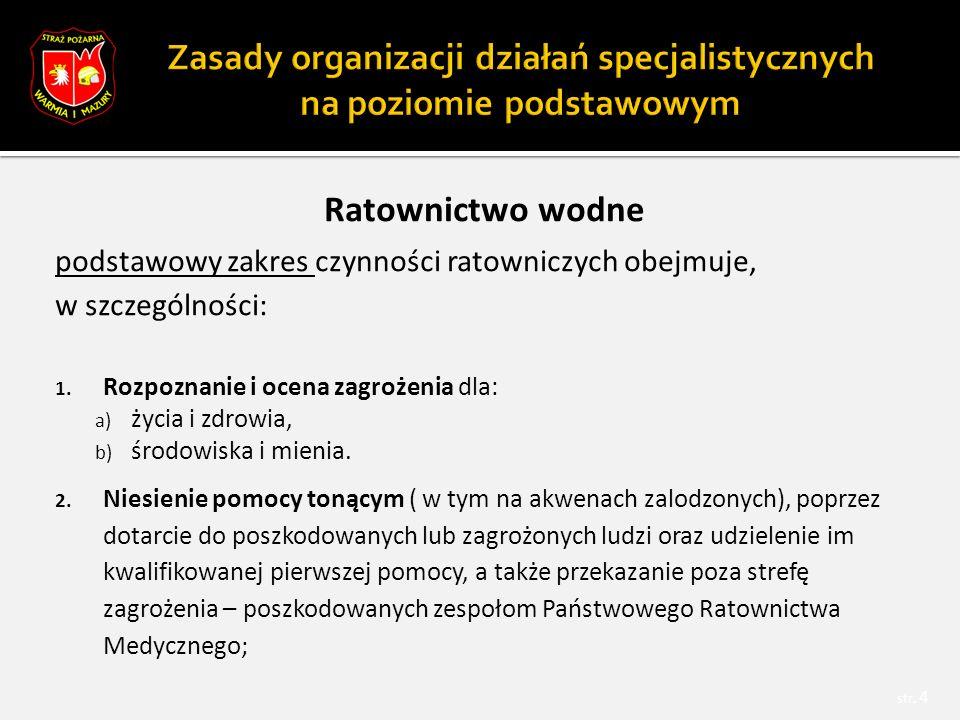 Minimalny standard wyposażenia – ratownictwo chemiczno-ekologiczne str.