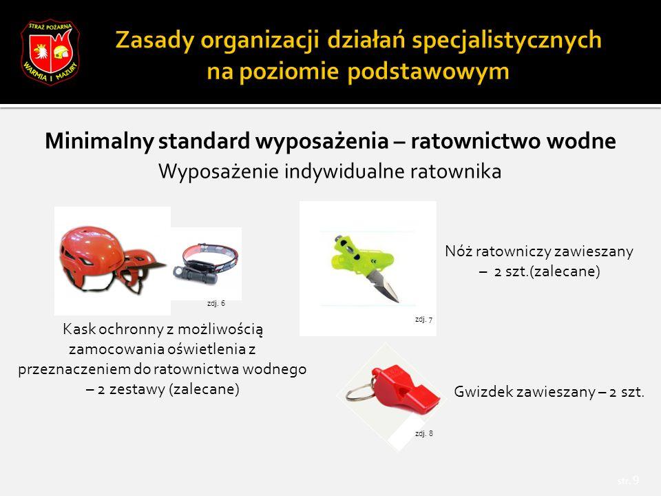 Minimalny standard wyposażenia – ratownictwo wysokościowe str.