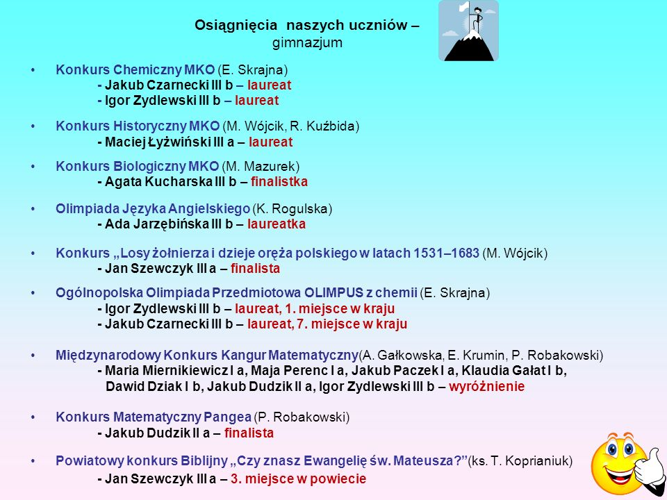 Konkurs Chemiczny MKO (E.