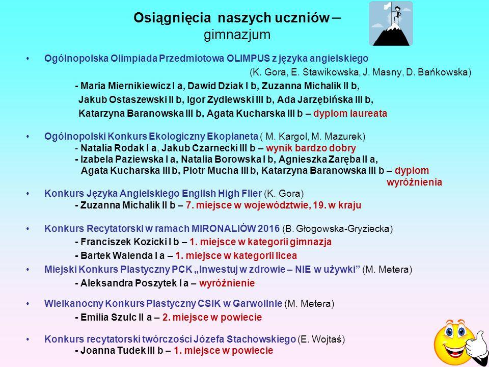 Ogólnopolska Olimpiada Przedmiotowa OLIMPUS z języka angielskiego (K.