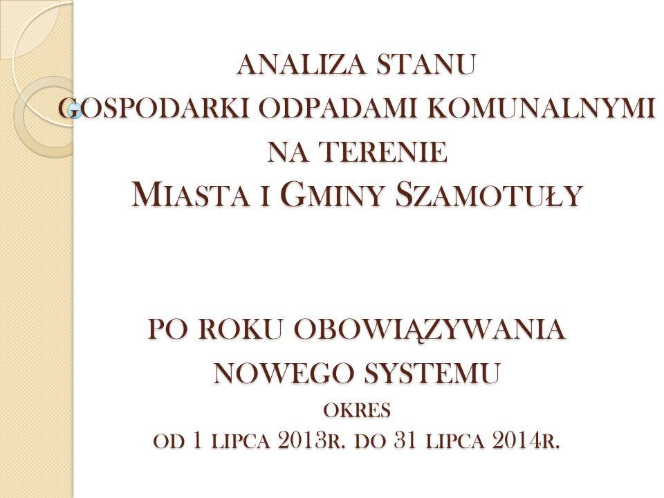 R EGION GOSPODAROWANIA ODPADAMI  Miasto i Gmina Szamotuły została przypisana do III regionu gospodarowania odpadami na podstawie zapisów PGO dla Woj.