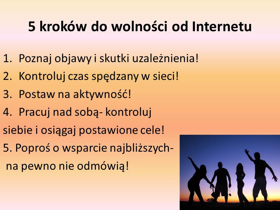 5 kroków do wolności od Internetu 1.Poznaj objawy i skutki uzależnienia.