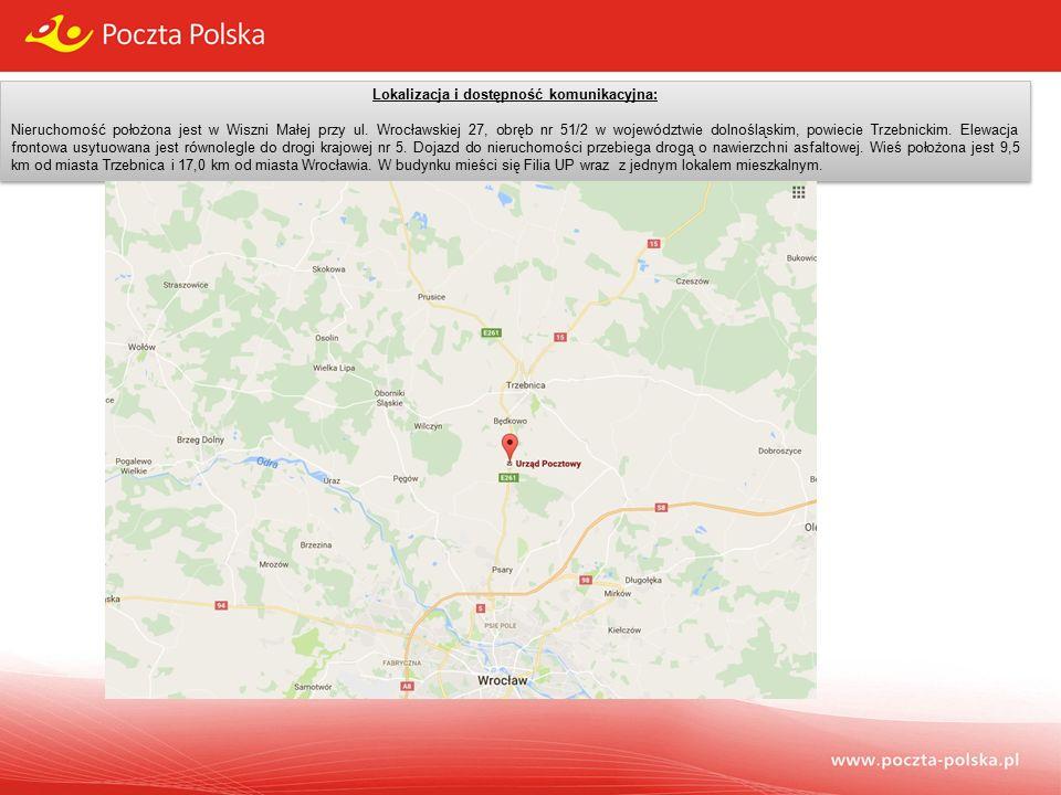 Lokalizacja i dostępność komunikacyjna: Nieruchomość położona jest w Wiszni Małej przy ul.