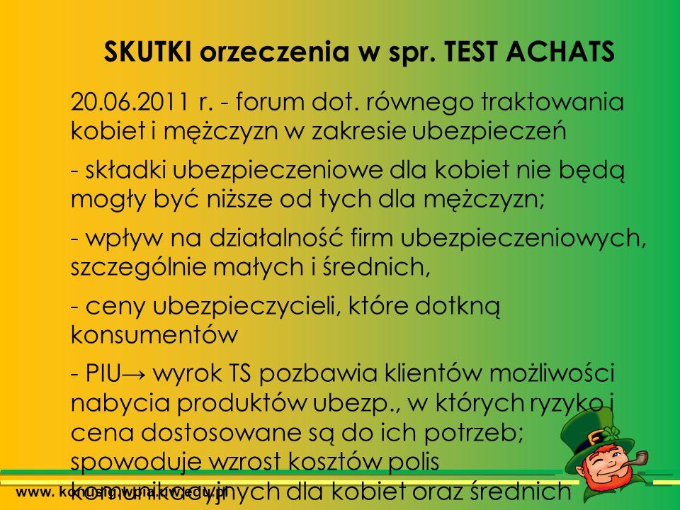 www. konusig.wpia.uw.edu.pl SKUTKI orzeczenia w spr.