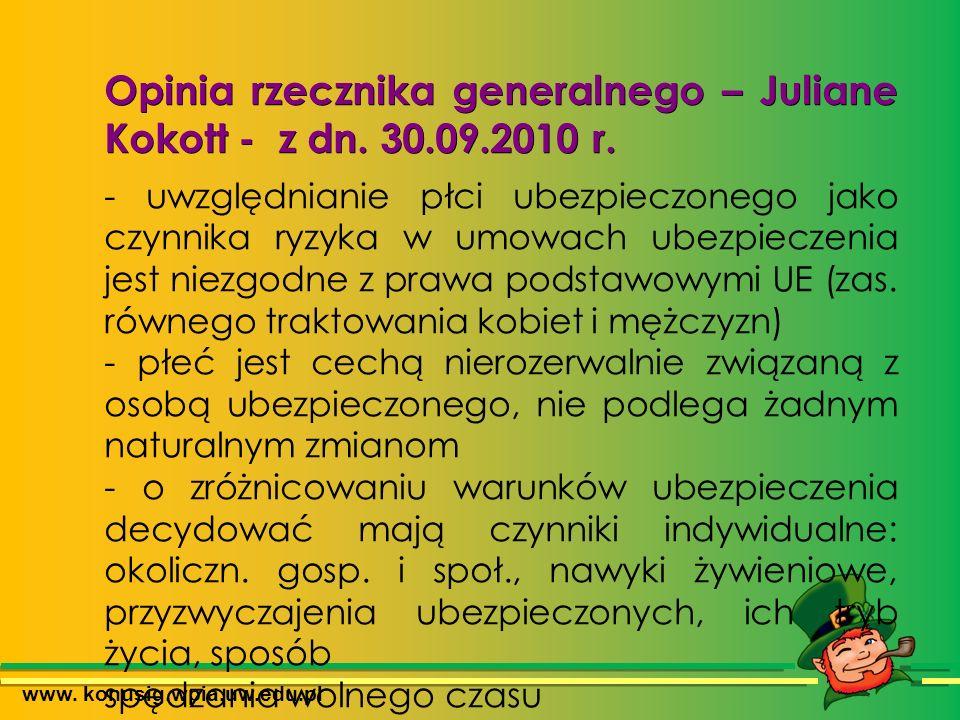 www. konusig.wpia.uw.edu.pl Opinia rzecznika generalnego – Juliane Kokott - z dn.