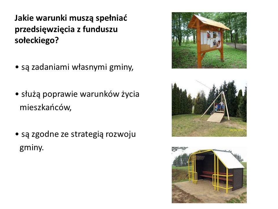 Jakie warunki muszą spełniać przedsięwzięcia z funduszu sołeckiego.