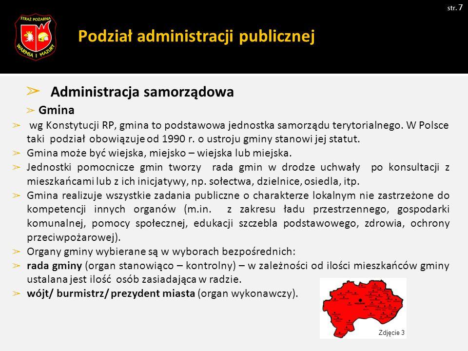 Podział administracji publicznej str.