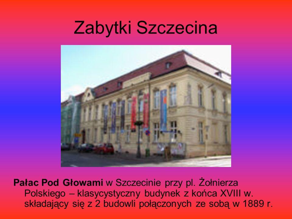 Zabytki Szczecina Pałac Pod Głowami w Szczecinie przy pl.