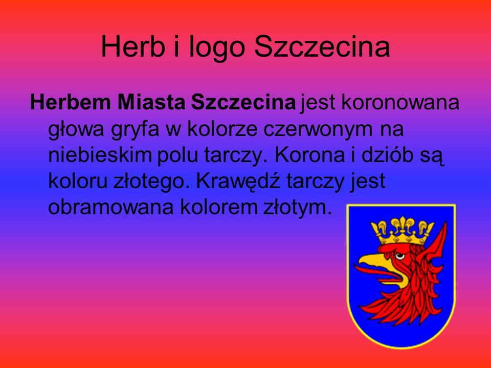Herb i logo Szczecina Herbem Miasta Szczecina jest koronowana głowa gryfa w kolorze czerwonym na niebieskim polu tarczy.