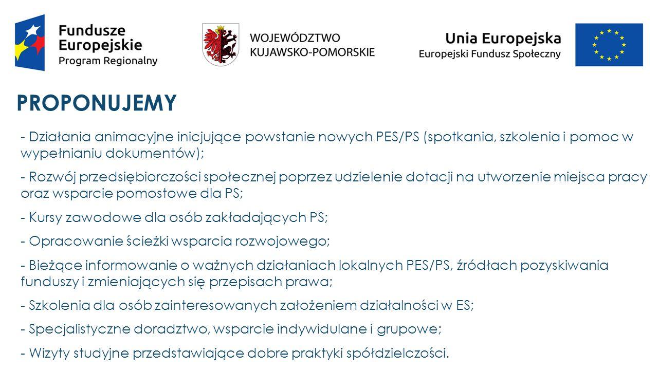 SUKCESY Kujawsko-Pomorski Ośrodek Wspierania Ekonomii Społecznej III (KPOWES III) był realizowany od 01.07.2013 r.