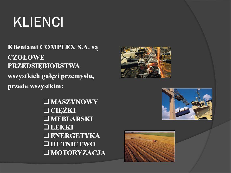 KLIENCI Klientami COMPLEX S.A.
