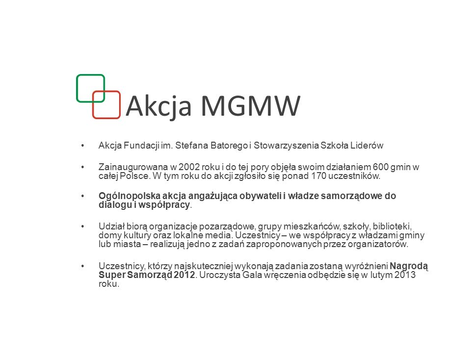 Akcja MGMW Akcja Fundacji im.