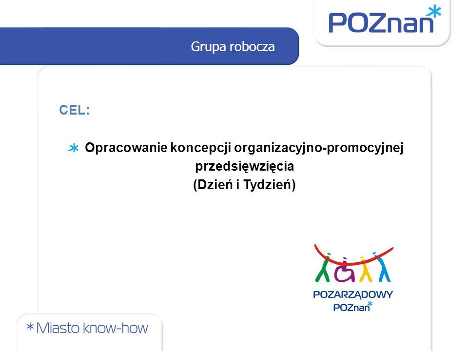 Grupa robocza CEL: Opracowanie koncepcji organizacyjno-promocyjnej przedsięwzięcia (Dzień i Tydzień)
