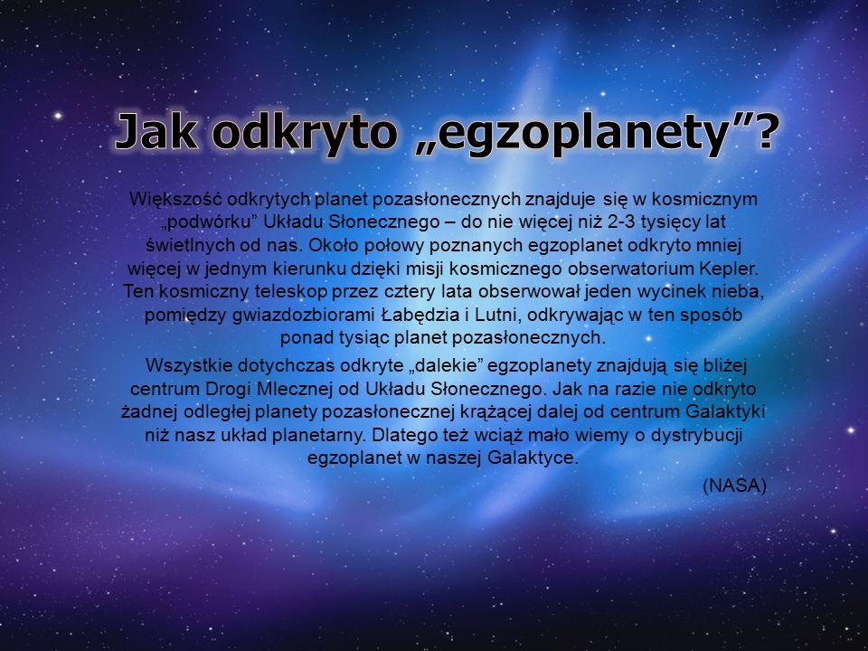 """Większość odkrytych planet pozasłonecznych znajduje się w kosmicznym """"podwórku"""" Układu Słonecznego – do nie więcej niż 2-3 tysięcy lat świetlnych od n"""