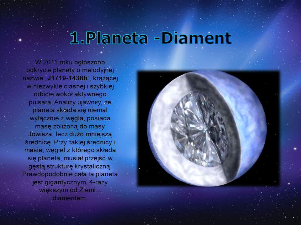 """W 2011 roku ogłoszono odkrycie planety o melodyjnej nazwie """"J1719-1438b , krążącej w niezwykle ciasnej i szybkiej orbicie wokół aktywnego pulsara."""