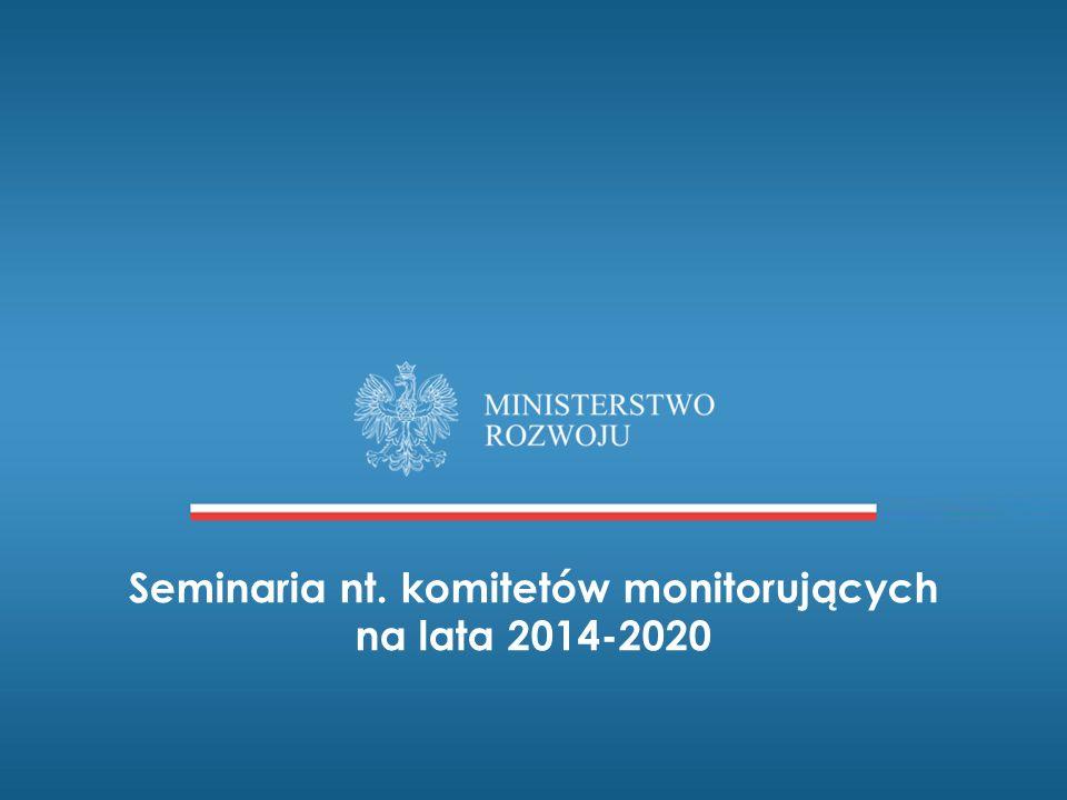 Seminaria nt. komitetów monitorujących na lata 2014-2020
