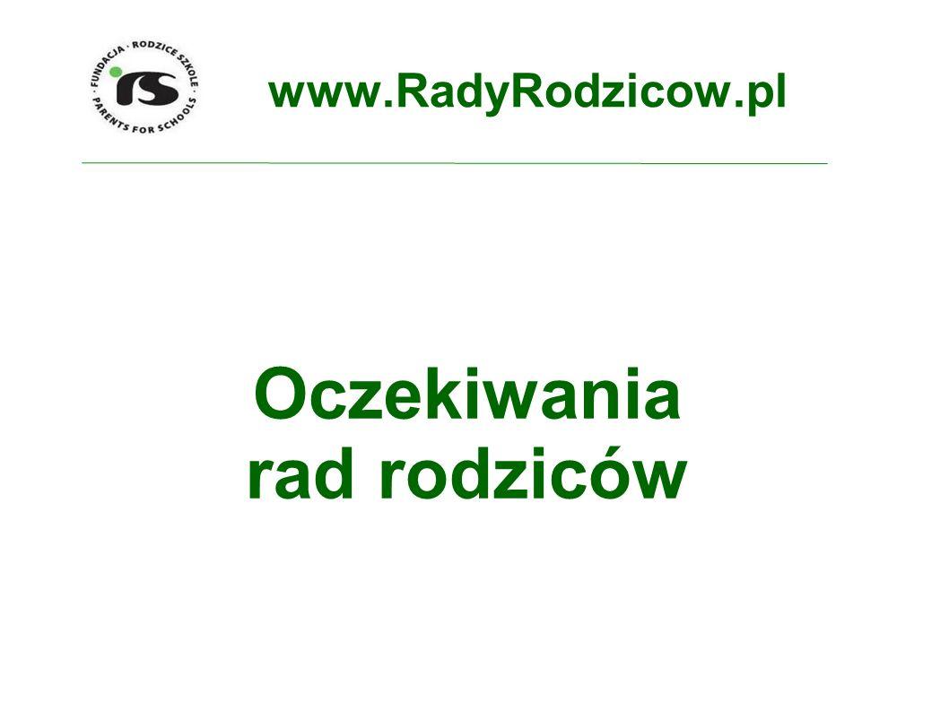 www.RadyRodzicow.pl Oczekiwania rad rodziców