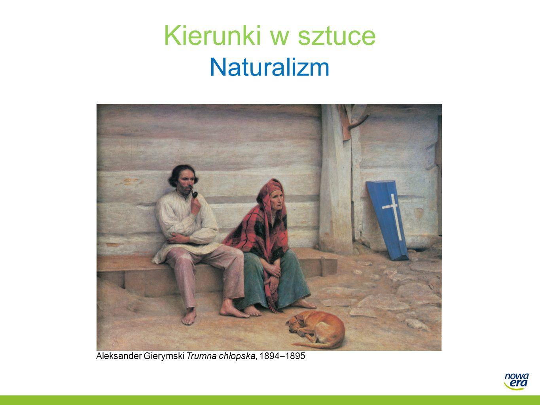 Kierunki w sztuce Naturalizm Aleksander Gierymski Trumna chłopska, 1894–1895