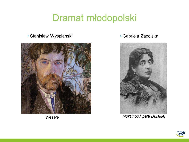 Dramat młodopolski Stanisław WyspiańskiGabriela Zapolska Wesele Moralność pani Dulskiej