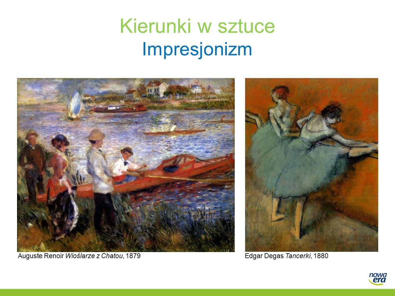 Kierunki w sztuce Impresjonizm Auguste Renoir Wioślarze z Chatou, 1879Edgar Degas Tancerki, 1880