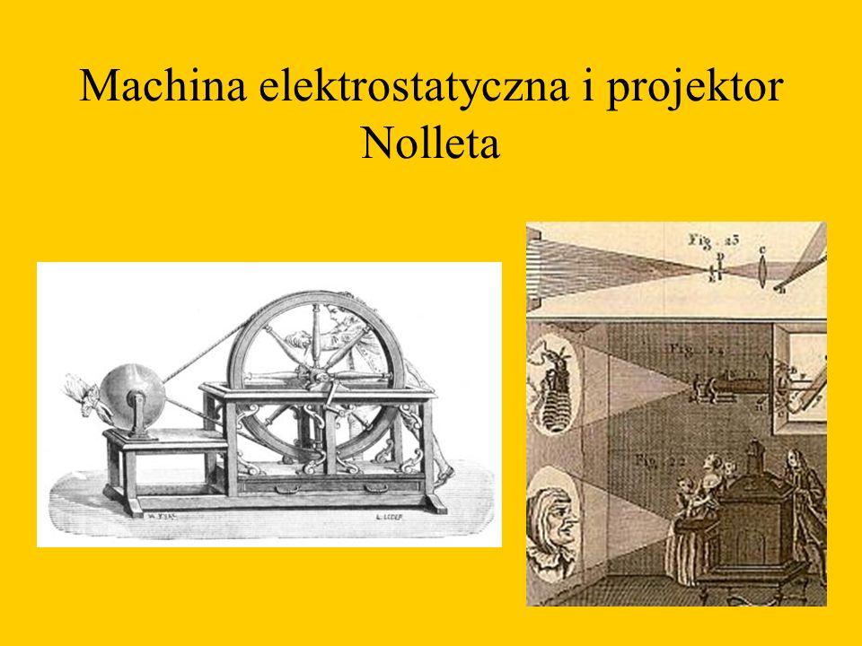 Machina elektrostatyczna i projektor Nolleta