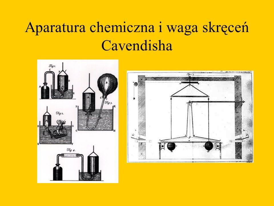 Aparatura chemiczna i waga skręceń Cavendisha