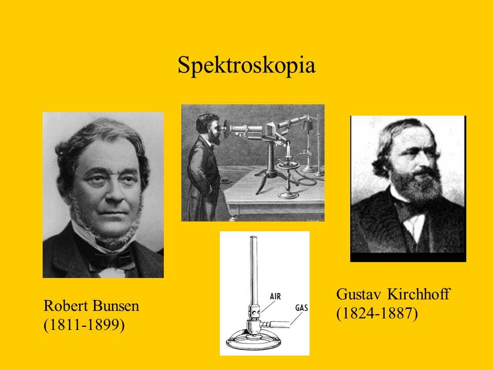 Spektroskopia Robert Bunsen (1811-1899) Gustav Kirchhoff (1824-1887)