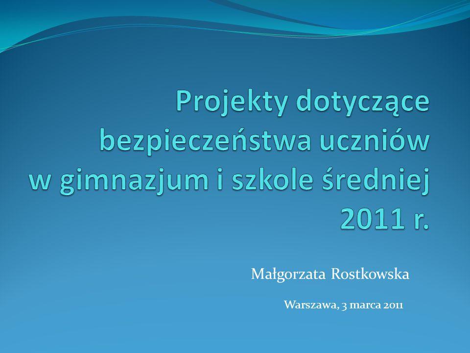 Warszawa, 3 marca 2011 Małgorzata Rostkowska
