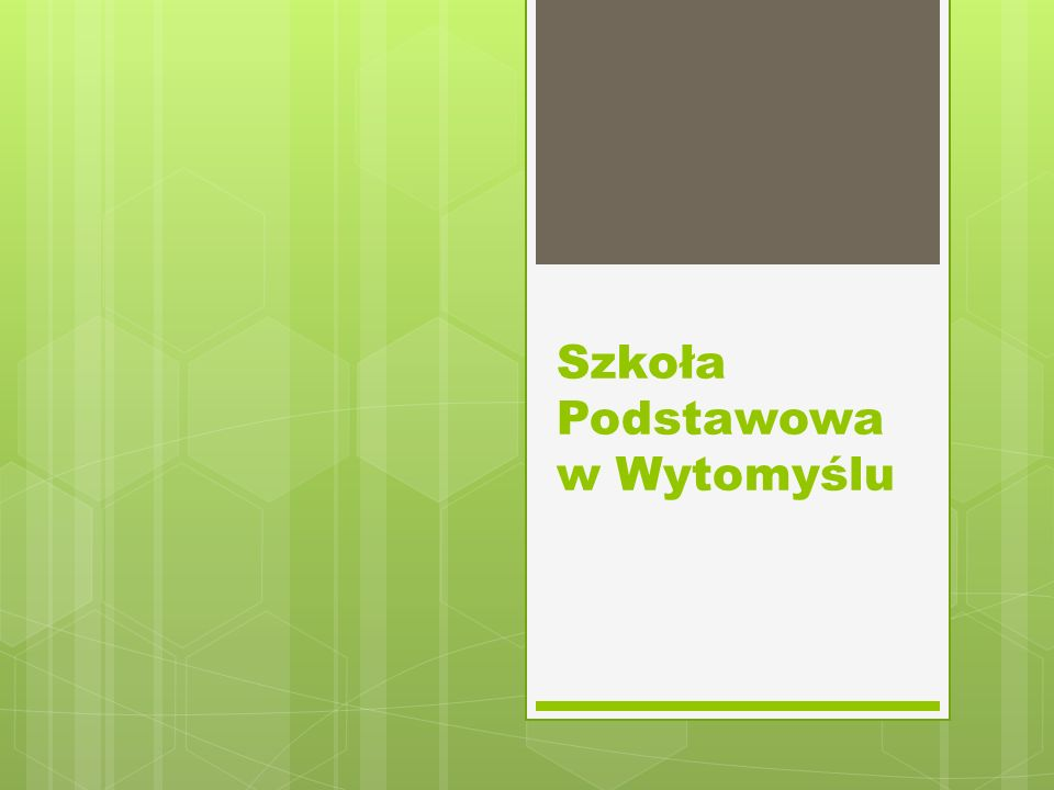 Szkoła Podstawowa w Wytomyślu