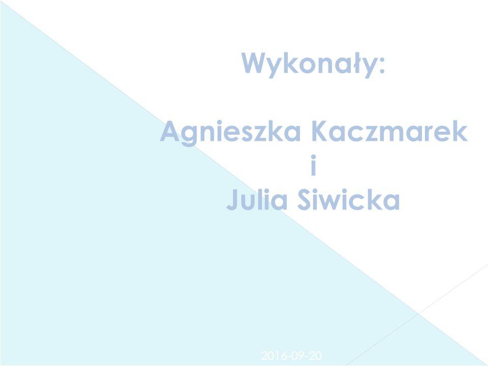 2016-09-20 Wykonały: Agnieszka Kaczmarek i Julia Siwicka