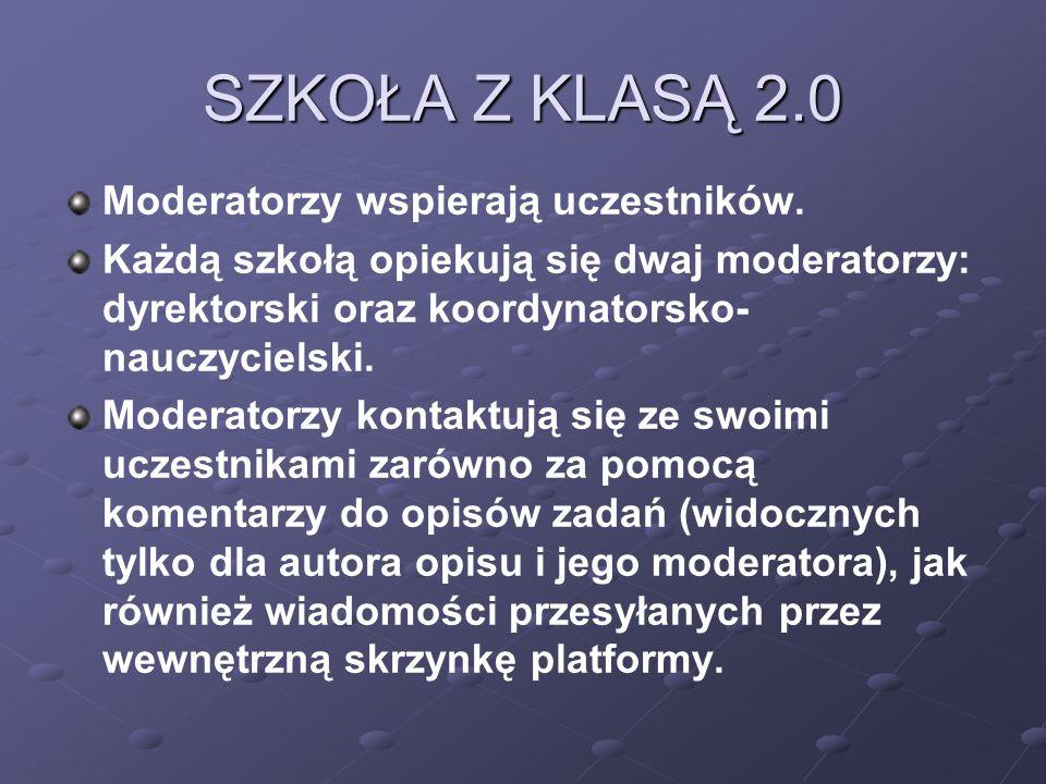 SZKOŁA Z KLASĄ 2.0 Moderatorzy wspierają uczestników.