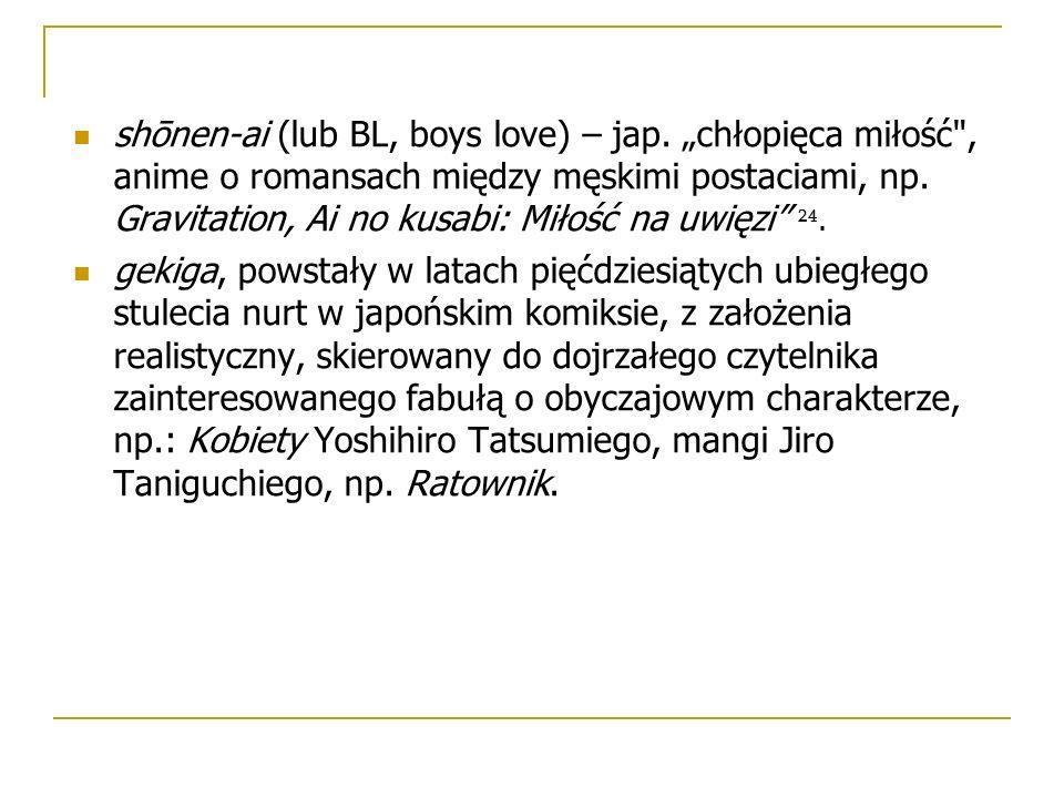 "shōnen-ai (lub BL, boys love) – jap. ""chłopięca miłość"