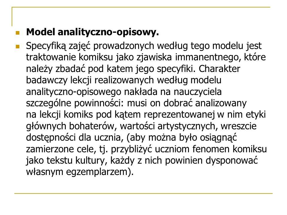 Model analityczno-opisowy.