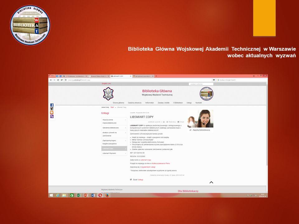 Biblioteka Główna Wojskowej Akademii Technicznej w Warszawie wobec aktualnych wyzwań