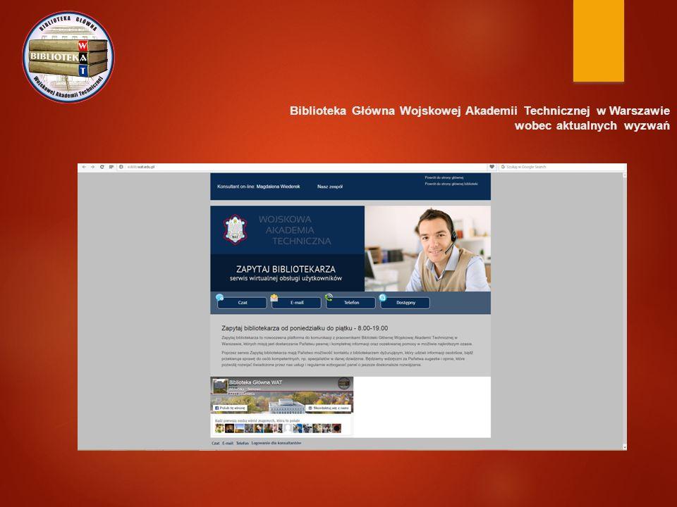 Biblioteka Główna Wojskowej Akademii Technicznej w Warszawie wobec aktualnych wyzwań Akcje charytatywne…