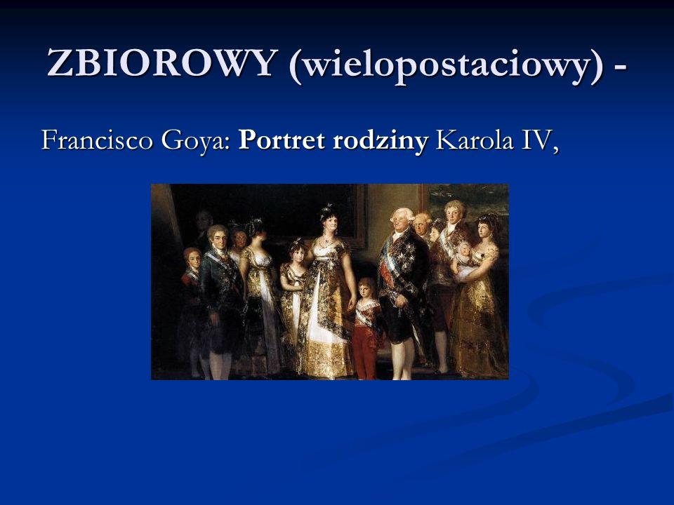 ZBIOROWY (wielopostaciowy) - Francisco Goya: Portret rodziny Karola IV,