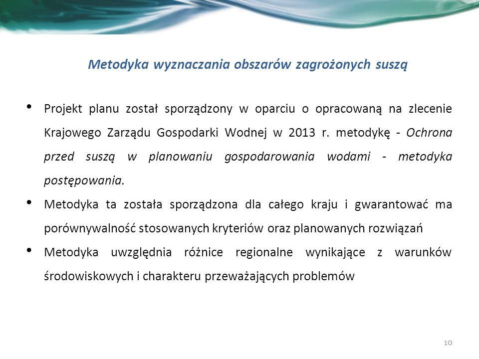 Projekt planu został sporządzony w oparciu o opracowaną na zlecenie Krajowego Zarządu Gospodarki Wodnej w 2013 r.