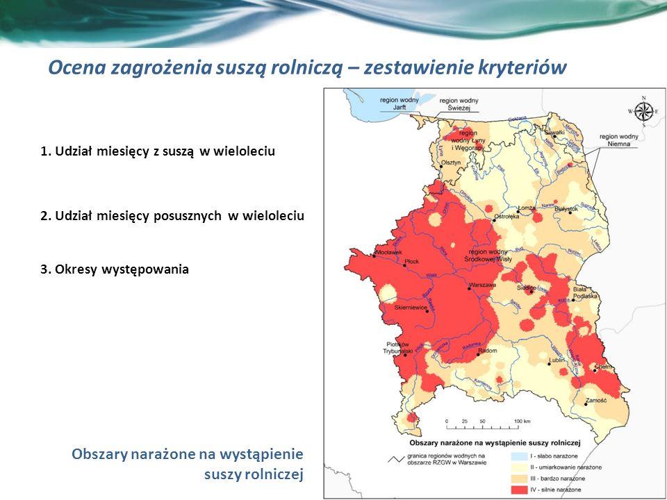 13 Ocena zagrożenia suszą rolniczą – zestawienie kryteriów 1.