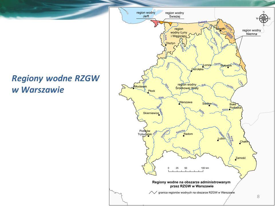 Regiony wodne RZGW w Warszawie 8