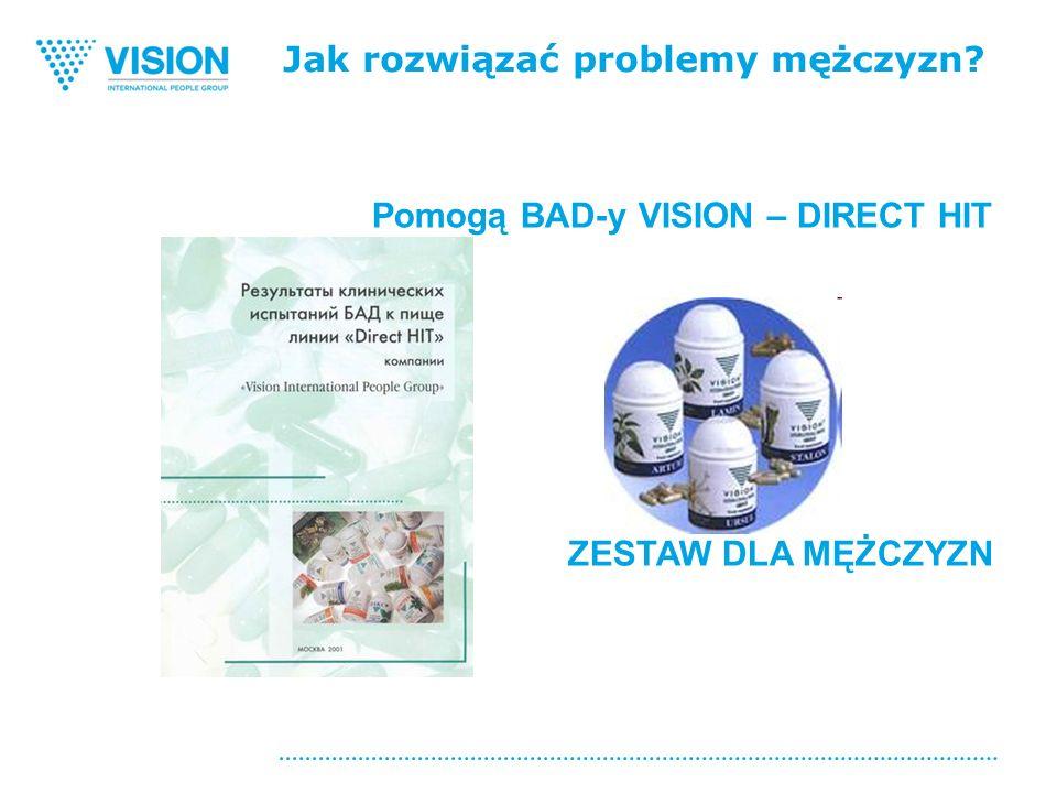 Jak rozwiązać problemy mężczyzn Pomogą BAD-y VISION – DIRECT HIT ZESTAW DLA MĘŻCZYZN