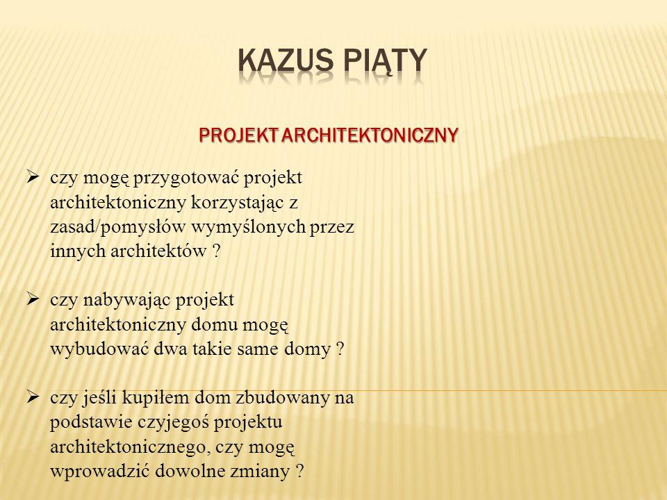 PROJEKT ARCHITEKTONICZNY  czy mogę przygotować projekt architektoniczny korzystając z zasad/pomysłów wymyślonych przez innych architektów .