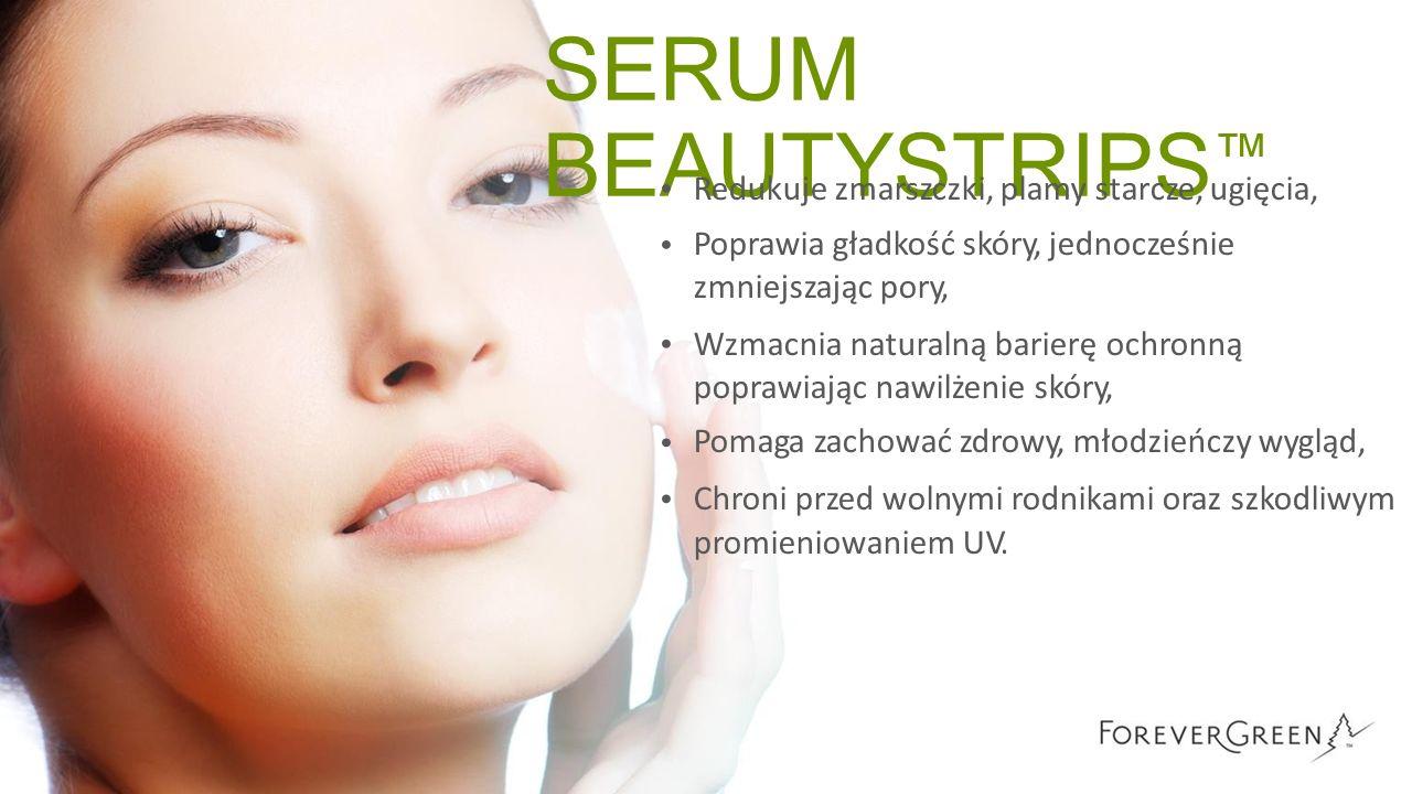 SERUM BEAUTYSTRIPS ™ Redukuje zmarszczki, plamy starcze, ugięcia, Poprawia gładkość skóry, jednocześnie zmniejszając pory, Wzmacnia naturalną barierę