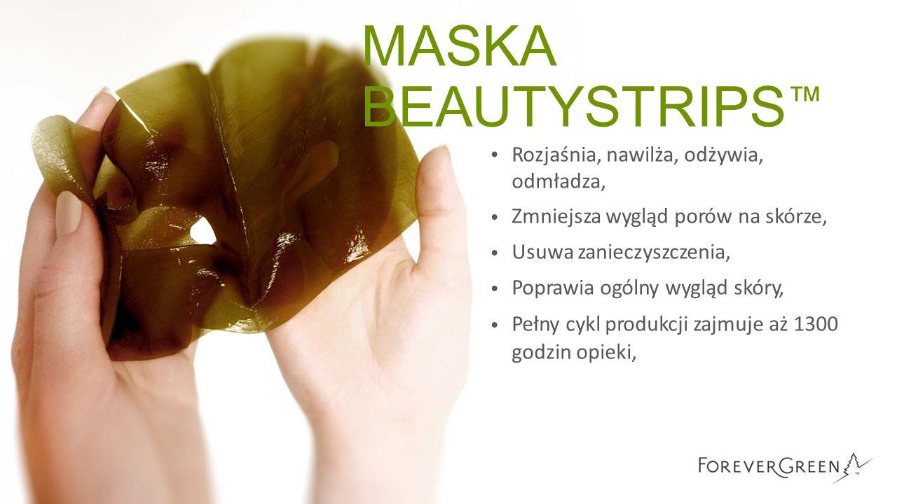 MASKA BEAUTYSTRIPS ™ Rozjaśnia, nawilża, odżywia, odmładza, Zmniejsza wygląd porów na skórze, Usuwa zanieczyszczenia, Poprawia ogólny wygląd skóry, Pe