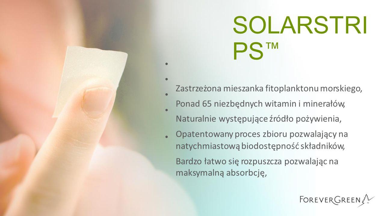 SOLARSTRI PS ™ Zastrzeżona mieszanka fitoplanktonu morskiego, Ponad 65 niezbędnych witamin i minerałów, Naturalnie występujące źródło pożywienia, Opat