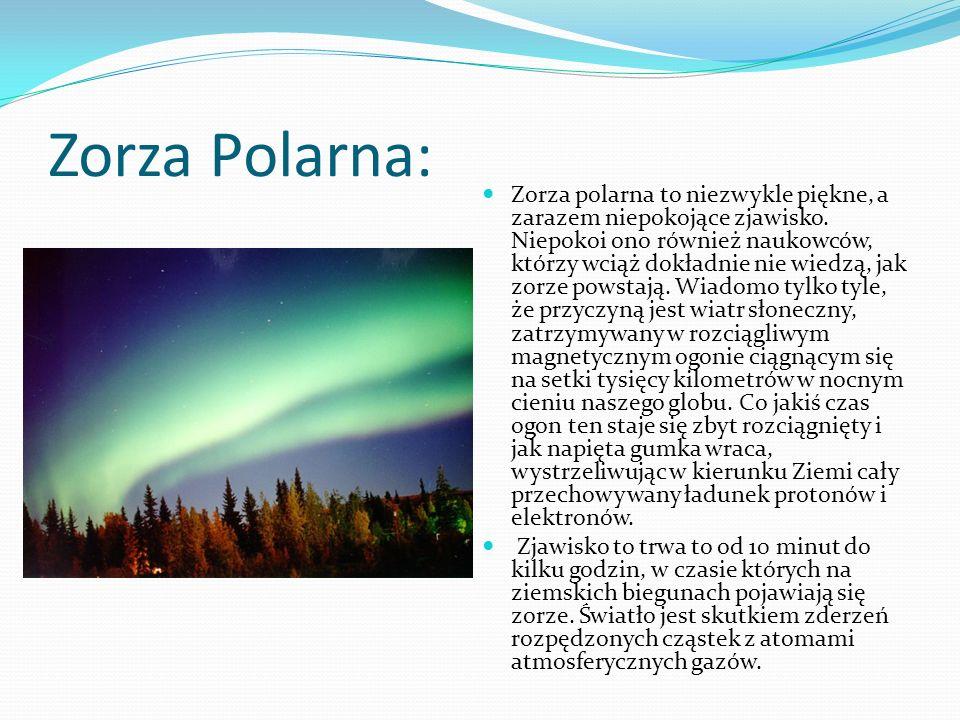 Zorza Polarna: Zorza polarna to niezwykle piękne, a zarazem niepokojące zjawisko. Niepokoi ono również naukowców, którzy wciąż dokładnie nie wiedzą, j