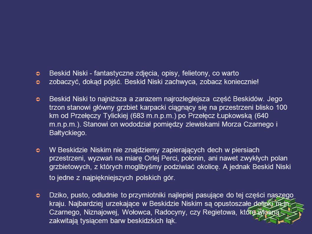 ➲ Beskid Niski - fantastyczne zdjęcia, opisy, felietony, co warto ➲ zobaczyć, dokąd pójść.