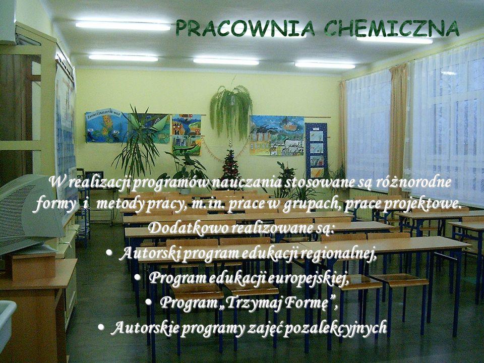 W realizacji programów nauczania stosowane są różnorodne formy i metody pracy, m.in.