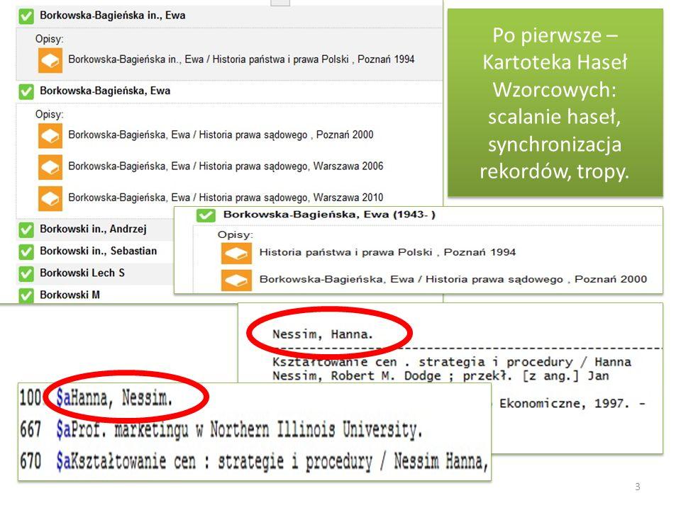Informacja ze strony redakcyjnej Dla bibliotekarza to pola 490 i 830 – tytuł serii, dla użytkownika jedna z możliwości wyszukania dokumentu 4